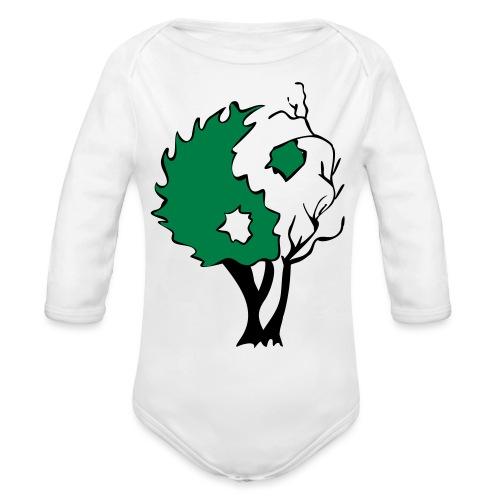 Yin Yang Tree - Organic Long Sleeve Baby Bodysuit