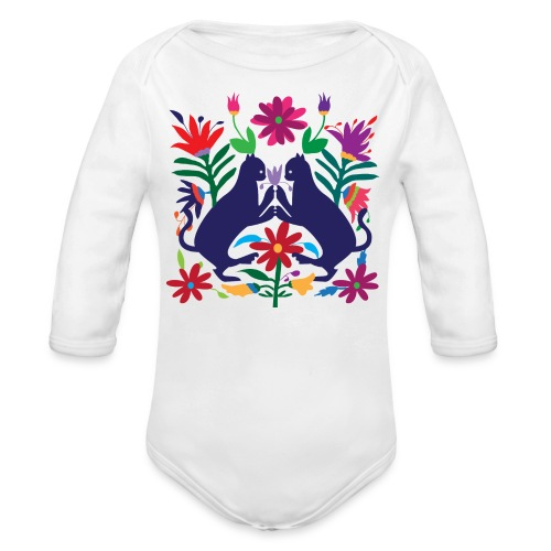Otomi Cats S by TeeNERD - Organic Long Sleeve Baby Bodysuit