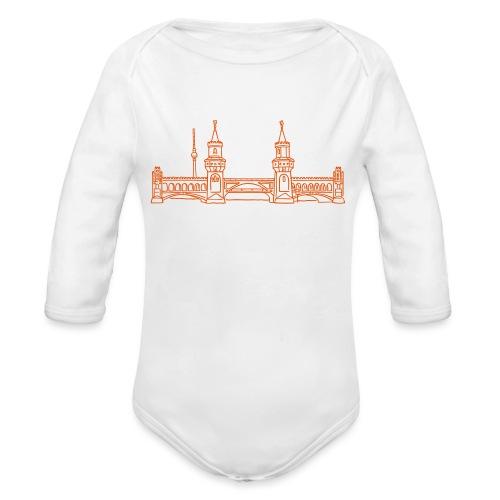 Oberbaum Bridge in Berlin - Organic Long Sleeve Baby Bodysuit