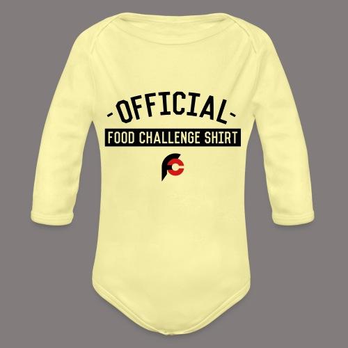 Official Food Challenge Shirt 2 - Organic Long Sleeve Baby Bodysuit