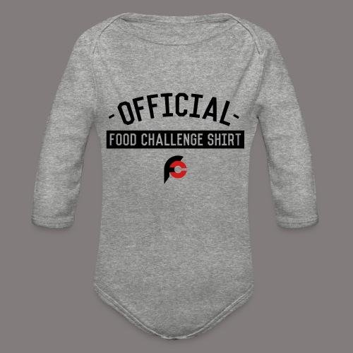 Official Food Challenge Shirt 2 - Organic Long Sleeve Baby Bodysuit