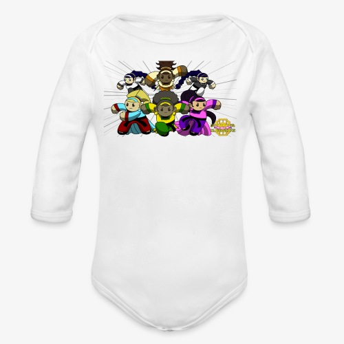 The Guardians of the Cloudgate w/ Logo - Organic Long Sleeve Baby Bodysuit