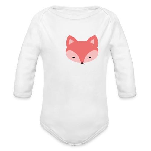 Fox Gift Logo - Organic Long Sleeve Baby Bodysuit
