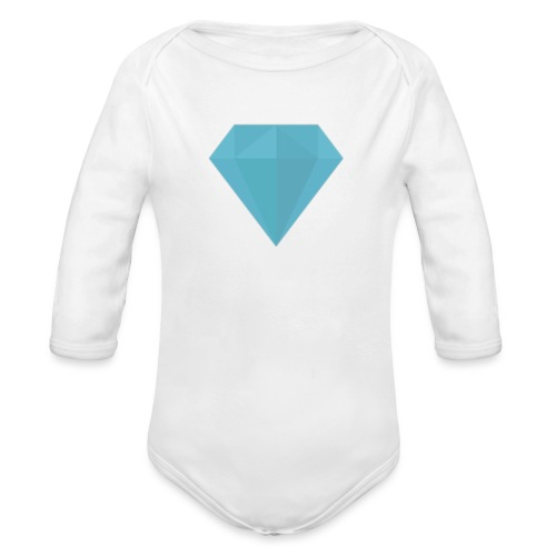 long sleeve Diamond shirt - Organic Long Sleeve Baby Bodysuit