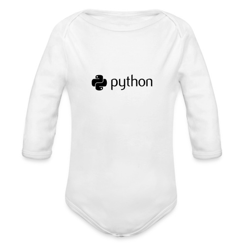 python logo - Organic Long Sleeve Baby Bodysuit