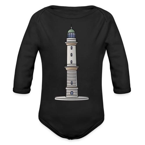 Lighthouse Warnemünde Rostock - Organic Long Sleeve Baby Bodysuit