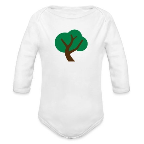 Gently Swaying Tree - Organic Long Sleeve Baby Bodysuit
