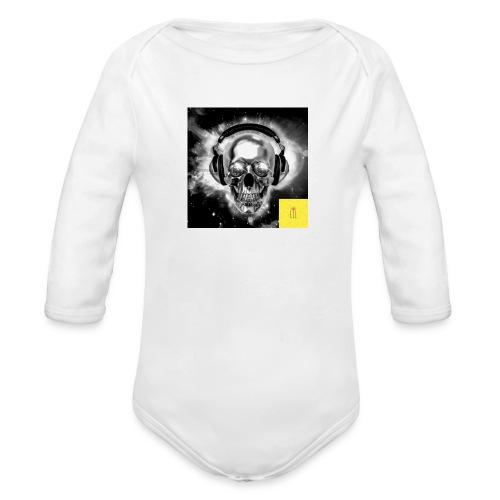 skull - Organic Long Sleeve Baby Bodysuit