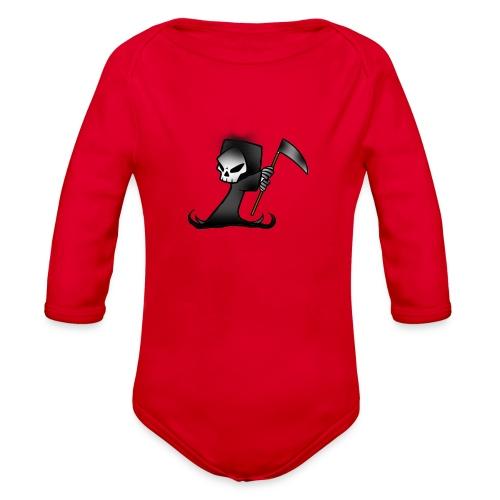 the grim - Organic Long Sleeve Baby Bodysuit