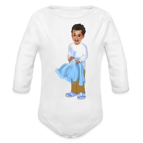 chandler j shelton LOGO BY Shelly Shelton - Organic Long Sleeve Baby Bodysuit