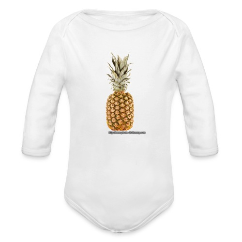 1567pineapple 1 - Organic Long Sleeve Baby Bodysuit