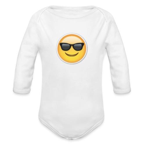 sunglasses emojicon mug & phone case - Organic Long Sleeve Baby Bodysuit