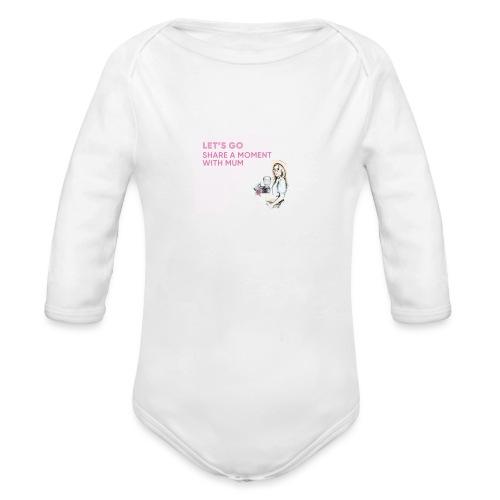 Leafs go mums - Organic Long Sleeve Baby Bodysuit