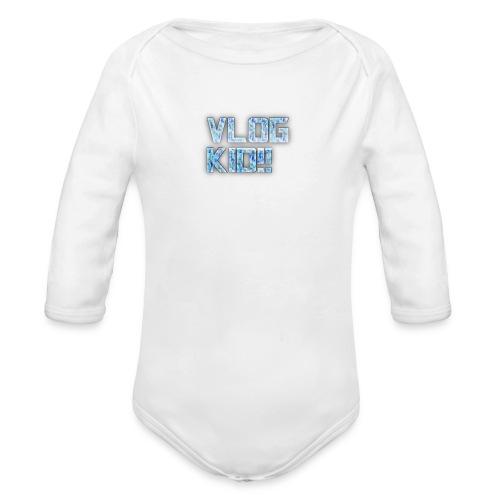 Vlog Kid - Organic Long Sleeve Baby Bodysuit