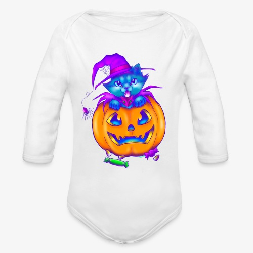 halloweenspecial - Organic Long Sleeve Baby Bodysuit