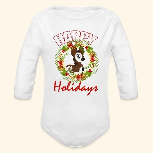 OKAPI HOLIDAY - Organic Long Sleeve Baby Bodysuit