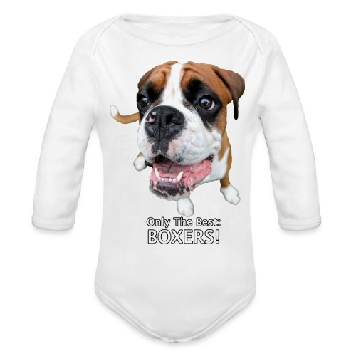 Only the best - boxers - Organic Long Sleeve Baby Bodysuit