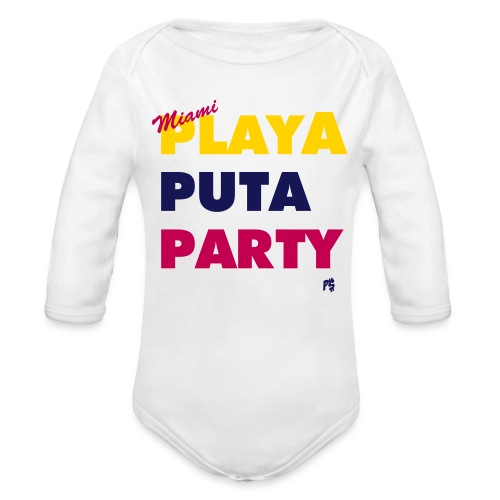 MIAMI MOTTO - Organic Long Sleeve Baby Bodysuit
