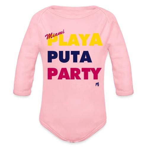 MIAMI MOTTO - Organic Long Sleeve Baby Bodysuit