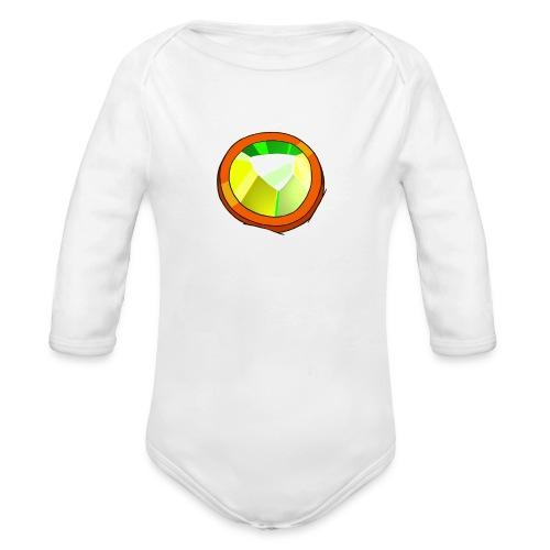 Life Crystal - Organic Long Sleeve Baby Bodysuit