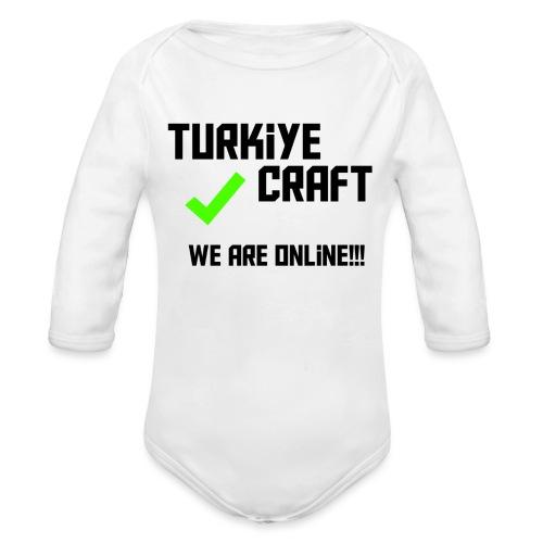 we are online boissss - Organic Long Sleeve Baby Bodysuit