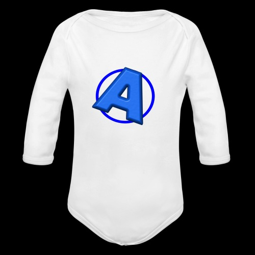 Awesomegamer Logo - Organic Long Sleeve Baby Bodysuit