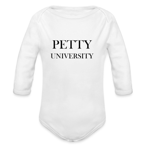 Petty University - Organic Long Sleeve Baby Bodysuit