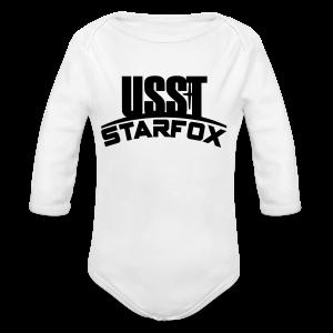 USST STARFOX Text - Long Sleeve Baby Bodysuit