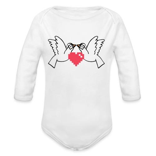 Logo Only - Organic Long Sleeve Baby Bodysuit
