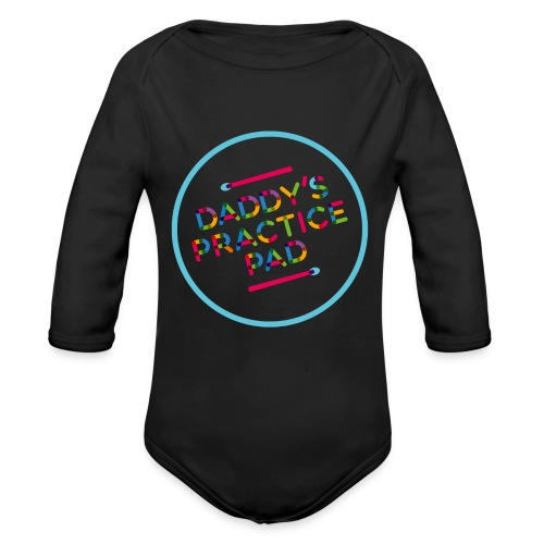 daddy practicepad - Organic Long Sleeve Baby Bodysuit