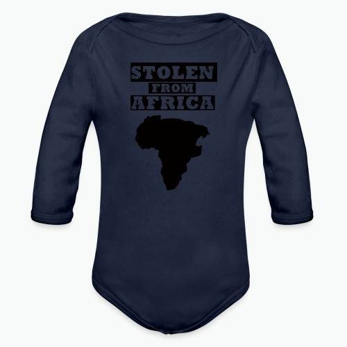 STOLEN FROM AFRICA LOGO - Organic Long Sleeve Baby Bodysuit