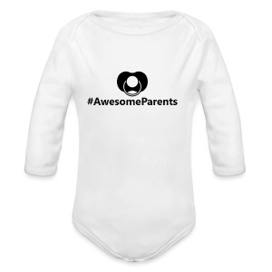 #AwesomeParents Black - Long Sleeve Baby Bodysuit