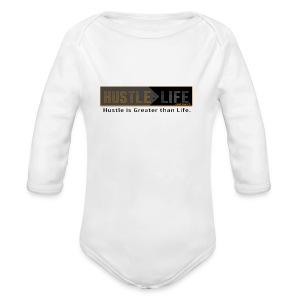 Hustle_Life - Long Sleeve Baby Bodysuit