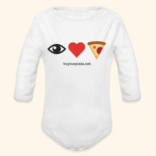 Buy Me Pizza - Organic Long Sleeve Baby Bodysuit