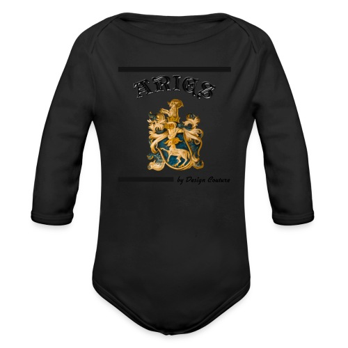 ARIES BLACK - Organic Long Sleeve Baby Bodysuit