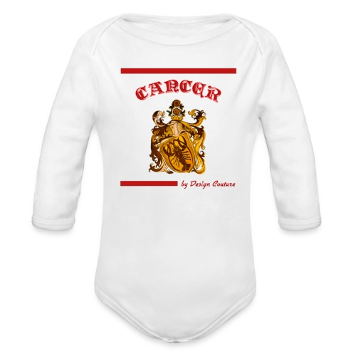 CANCER RED - Organic Long Sleeve Baby Bodysuit
