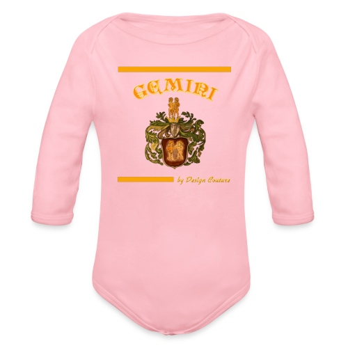 GEMINI ORANGE - Organic Long Sleeve Baby Bodysuit