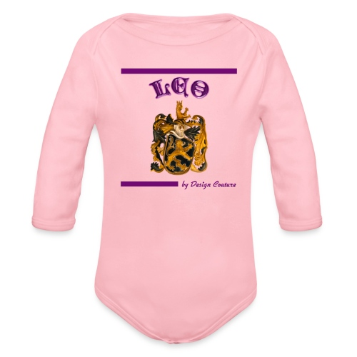 LEO PURPLE - Organic Long Sleeve Baby Bodysuit