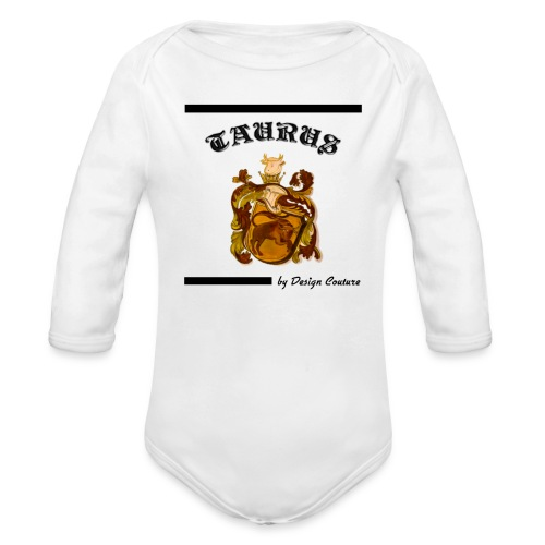 TAURUS BLACK - Organic Long Sleeve Baby Bodysuit