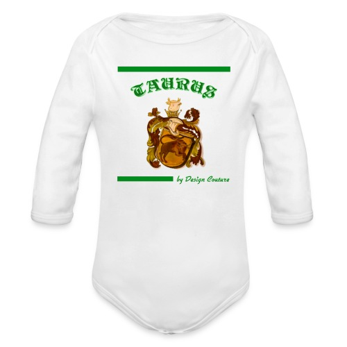 TAURUS GREEN - Organic Long Sleeve Baby Bodysuit