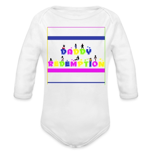 DADDY REDEMPTION T SHIRT TEMPLATE - Organic Long Sleeve Baby Bodysuit