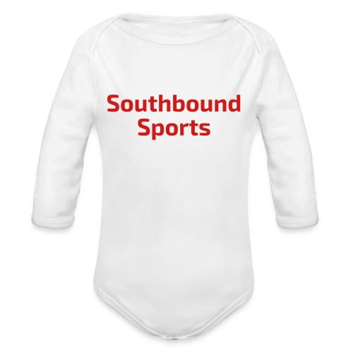 The Southbound Sports Title - Organic Long Sleeve Baby Bodysuit