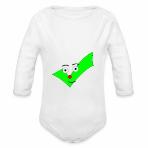 BABY DESIGN CHECKMARK SHIRT! - Long Sleeve Baby Bodysuit