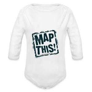 MapThis! Black Stamp Logo - Long Sleeve Baby Bodysuit