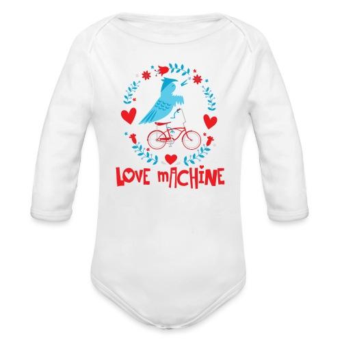 Cute Love Machine Bird - Organic Long Sleeve Baby Bodysuit