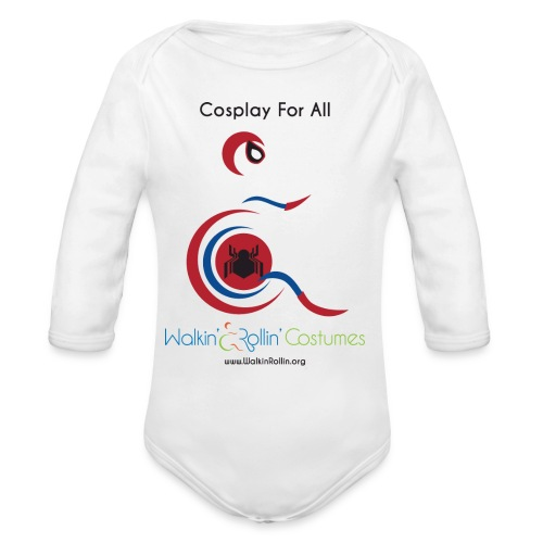 Cosplay For All: Spiderman - Organic Long Sleeve Baby Bodysuit