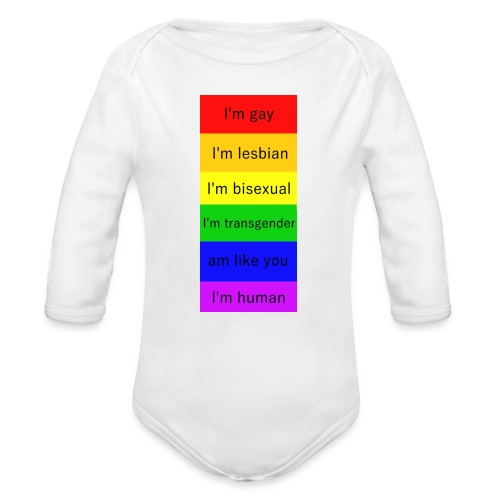 I'm - Organic Long Sleeve Baby Bodysuit