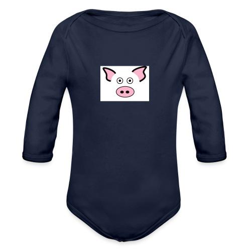 pig - Organic Long Sleeve Baby Bodysuit