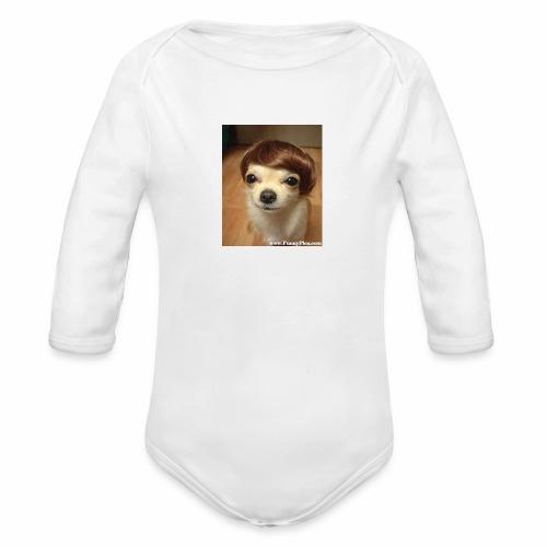 Justin Dog - Organic Long Sleeve Baby Bodysuit