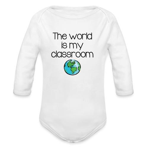 World Classroom - Organic Long Sleeve Baby Bodysuit